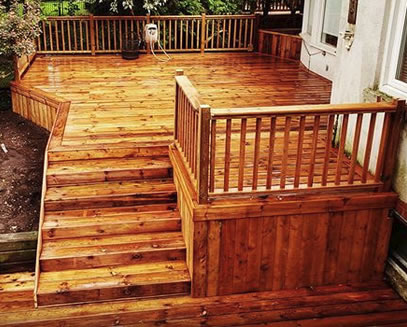 quality wooden deck